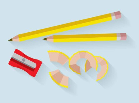 content writing 2 pencils