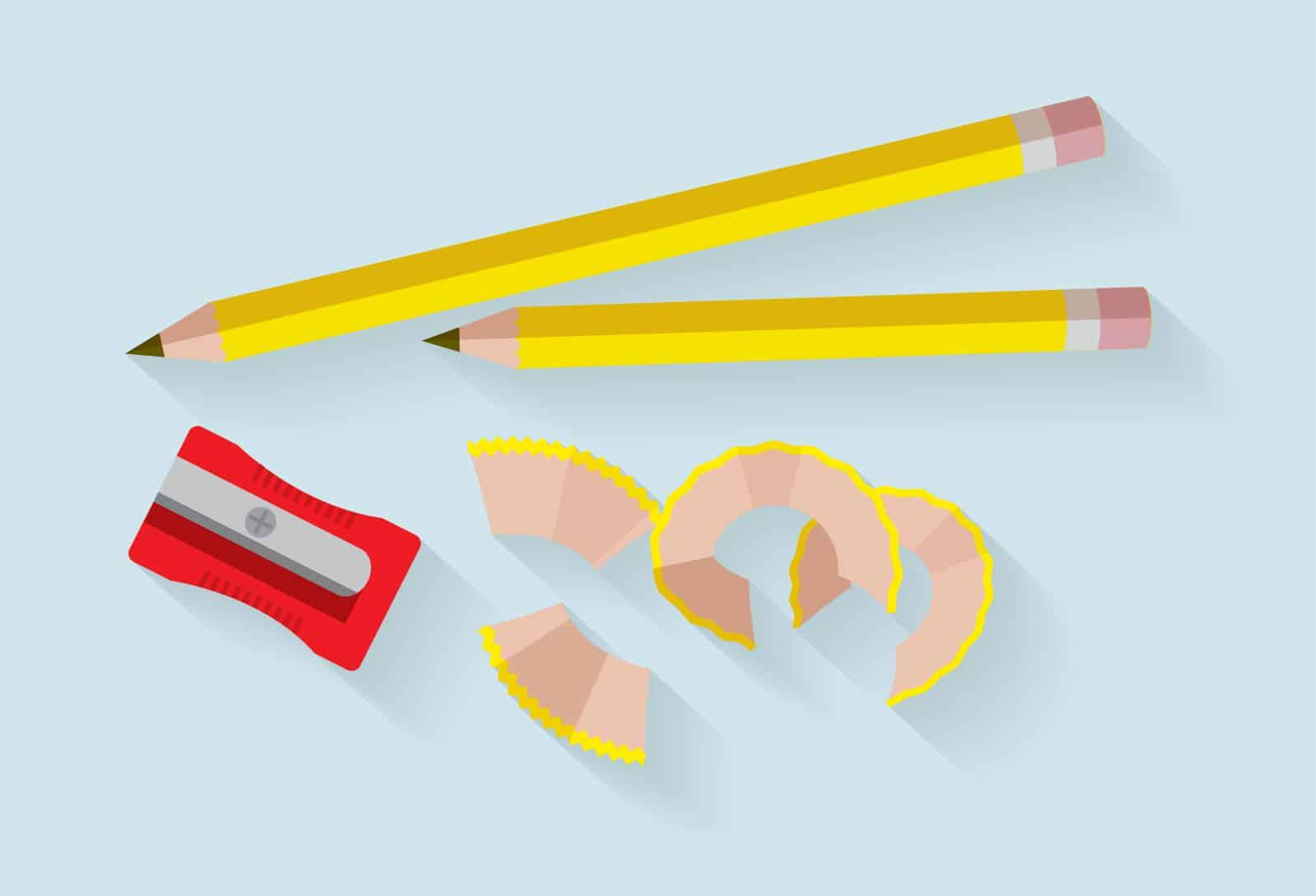 content writing 2 pencils
