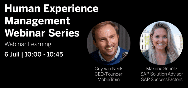 Human Experience Webinar: Mobile Microlearning with MobieTrain and SAP SuccessFactors